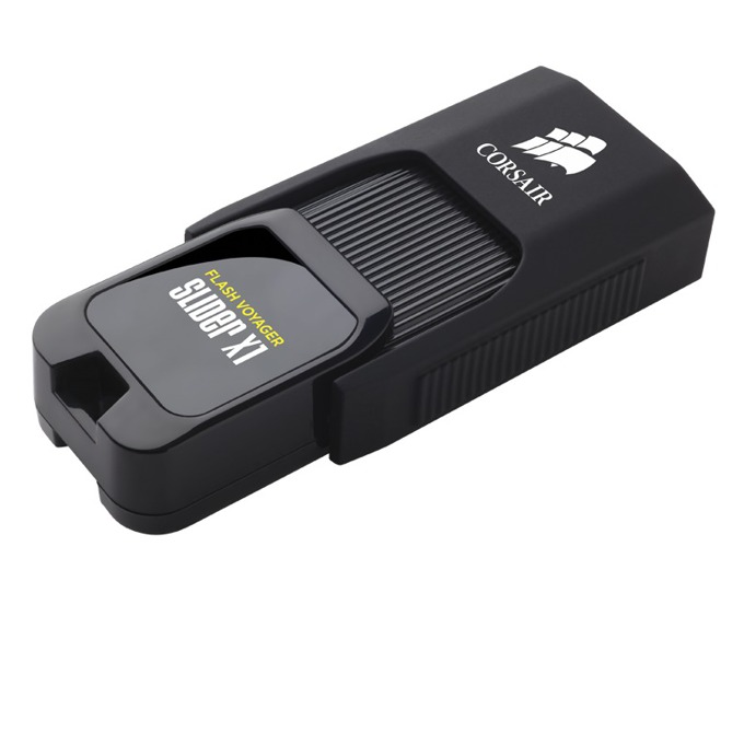 128GB USB Flash Drive, Corsair Flash Voyager Slider X1, черна, USB 3.0